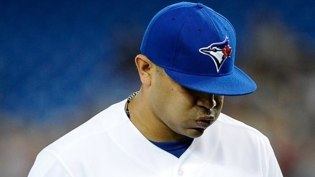 Left-hander Ricky Romero was optioned to class-A Dunedin on Tuesday by the Toronto Blue Jays.