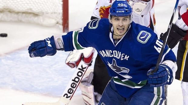 Maxim Lapierre is making the most of his time on the top line for Vancouver.