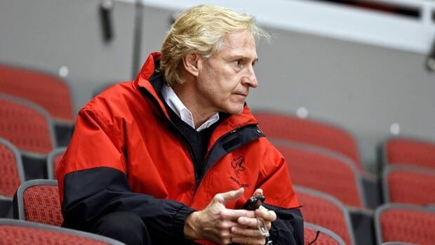 Phoenix Coyotes general manager Don Maloney watches a practice in January.