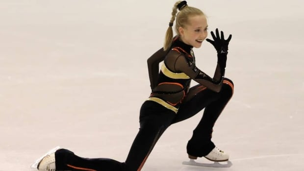 Elena Radionova took gold in Milan, Italy on Saturday, leading a Russian sweep of the podium in the junior ladies event.