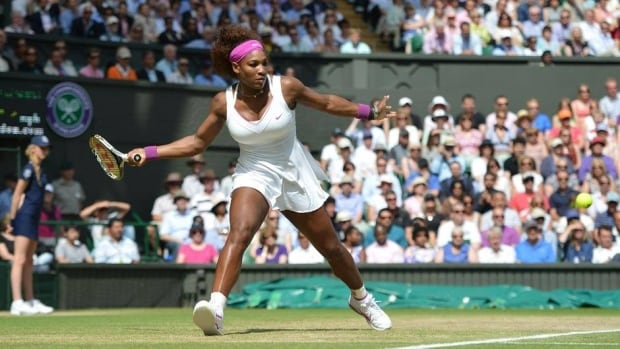 Serena Williams advanced to the Wimbledon final with a 6-3, 7-6 win over Victoria Azarenka on Thursday.
