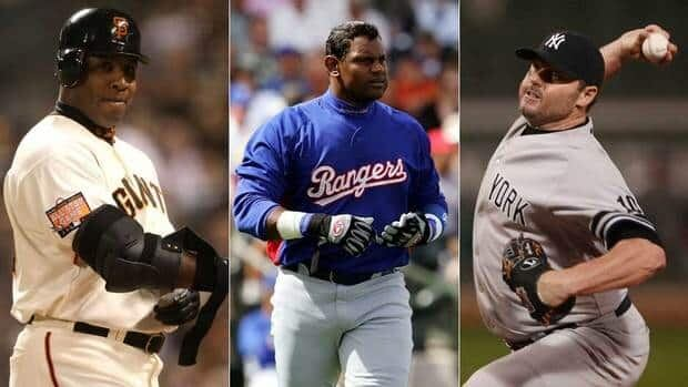 Former sluggers Barry Bonds, left, Sammy Sosa, middle, and former pitcher Roger Clemens will find out whether they will be enshrined to the Hall of Fame on Wednesday.