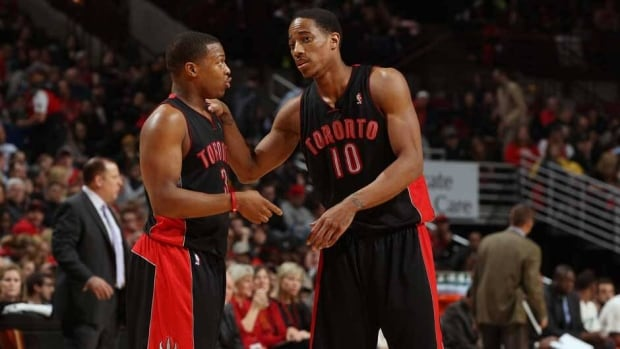 Kyle Lowry, left, DeMar DeRozan, right, and the Toronto Raptors kick off the 2013-14 NBA regular season at home against the Boston Celtics on Oct. 30.