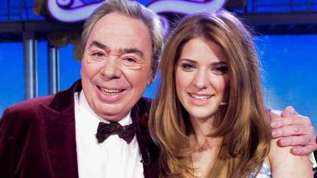 Danielle Wade poses with Andrew Lloyd Webber in Toronto after winning the Over the Rainbow reality TV show.
