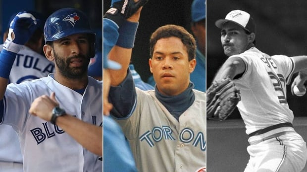 Blue Jays, from left, Jose Bautista, Roberto Alomar and Dave Stieb have participated in multiple major league All-Star Games. Bautista will compete in his fourth on Tuesday night while Alomar has the lone Toronto homer in all-star history and Stieb has the most appearances (7) and innings pitched (11 2/3).