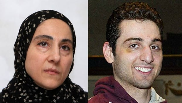 Boston marathon bombing suspect, Tamerlan Tsarnaev, right, and his mother, Zubeidat Tsarnaeva, vaguely discussed jihad in a phone conversation recorded by Russian authorities in 2011, U.S. officials said Saturday.