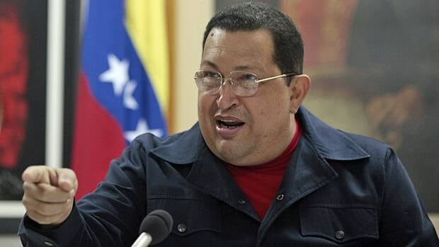 Venezuela's President Hugo Chavez talks during a meeting with his cabinet Saturday while recovering from surgery in Havana. Chavez appeared Sunday on a TV program recorded in Cuba.