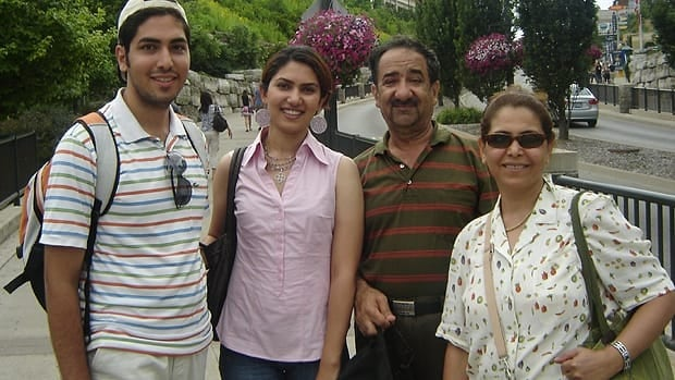 The Rasouli family, from left to right: son Mehran Rasouli, daughter Mojgan Rasouli, Hassan Rasouli and Parichehr Salasel. (Submitted by the Rasouli family)