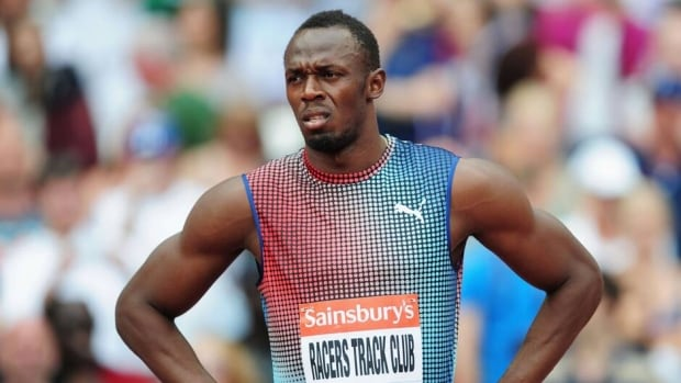 Usain Bolt ahead of the men's 4x100m relay during the Sainsbury's Anniversary Games at the Diamond League 2013 on July 27 in London.