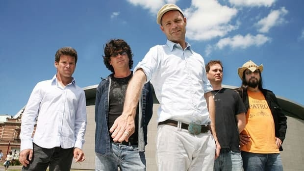 The Tragically Hip includes (from left) Gord Sinclair, Paul Langlois, Gord Downie, Johnny Fay and Rob Baker.