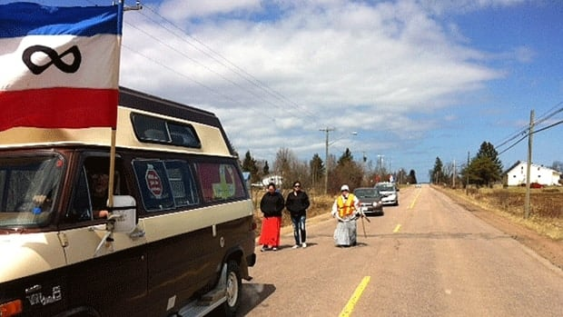 Lorraine Clair is walking from Elsipogtog to Amherst, N.S.