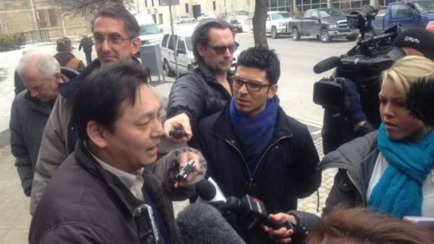 Joe Chan speaks to reporters on April 5, after a Court of Queen's Bench justice ruled against him in a conflict-of-interest case involving Winnipeg Mayor Sam Katz.