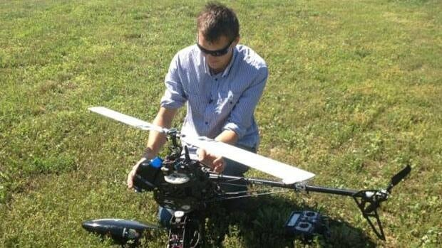 Monty Allan, 26, has turned his hobby building remote controlled helicopters into a business that has attracted the interest of the RCMP.