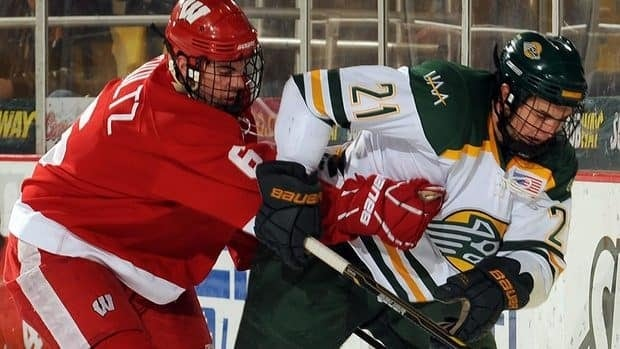 University of Wisconsin defenceman Justin Schultz, left, is considered an elite offensive defenceman who many observers believe could step into the NHL next season as a top-four blue-liner.
