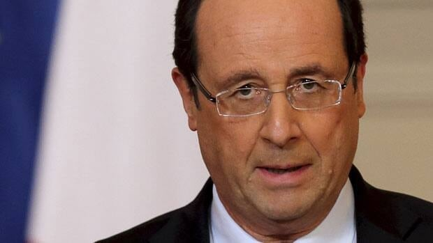 French President Francois Hollande delivers a speech on the situation in Mali at the Elysee Palace in Paris on Friday.