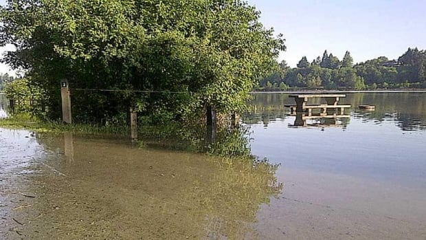 The Fraser River flooded last June, prompting the closure of this campsite.