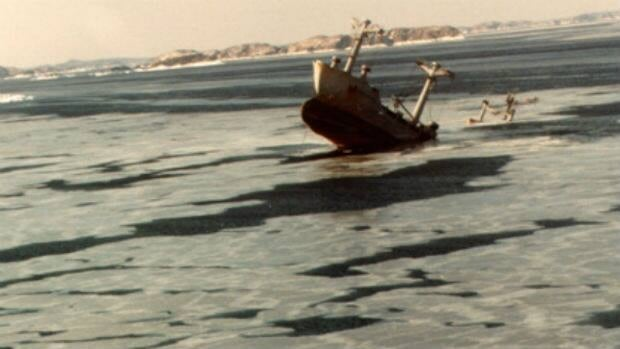 The Manolis L paper carrier sank in 1985 in Notre Dame Bay in 1985.