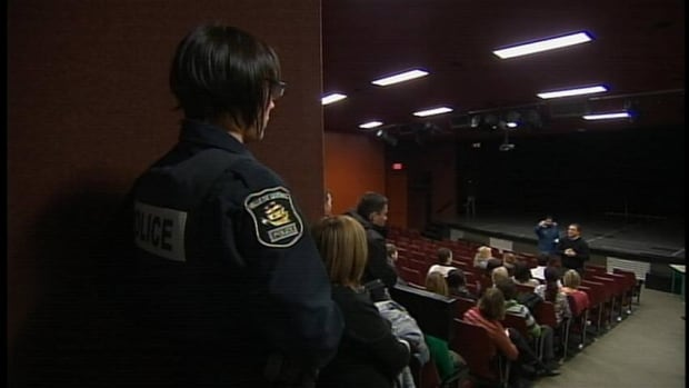 The principal of Le Sommet, a Quebec City secondary school, spoke with students about alleged death threats posted on Facebook by three of their classmates.