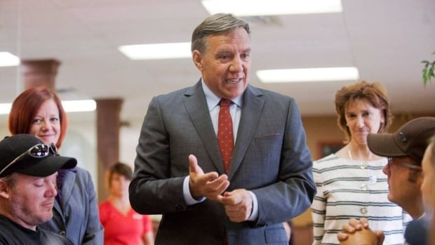 Some parts of the economic platform of Coalition Avenir Québec Leader François Legault — seen speaking with diners at a café in Mirabel, Que., on Thursday — are like nails on a chalkboard for free-market adherents.