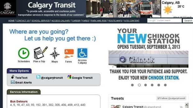 Calgary Transit says a website overhaul is years overdue.
