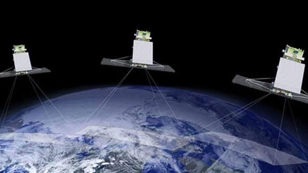 The Canadian Space Agency's website says the satellites will provide complete coverage of Canada's land and oceans with launches planned for 2016 and 2017.