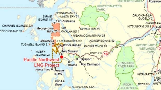 Skeena river missing from liquefied natural gas project for Terrace canada