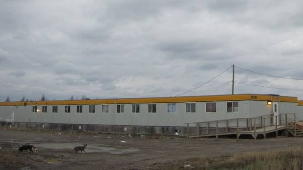 Trailers used as housing in Attawapiskat were donated by the mining company DeBeers. The trailers were intended as a temporary solution to homes rendered unlivable by a sewage backup, but have since became permanent housing.