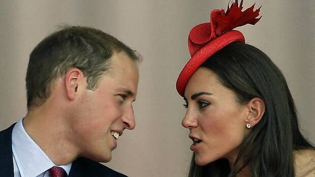 Prince William and Kate talk during a Canada Day celebration on Parliament Hill in Ottawa on July 1, 2011.