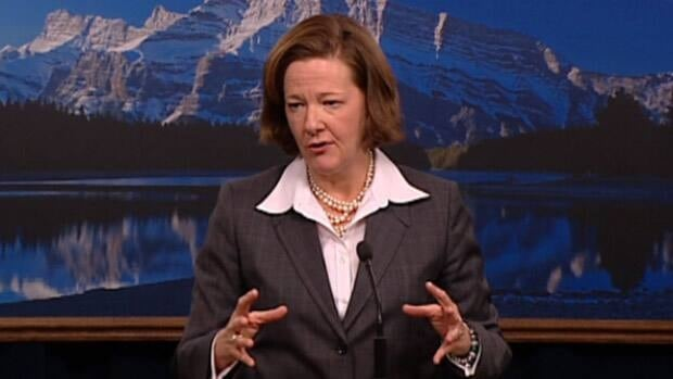 Premier Alison Redford says the province faces some 'significant deficit issues.'