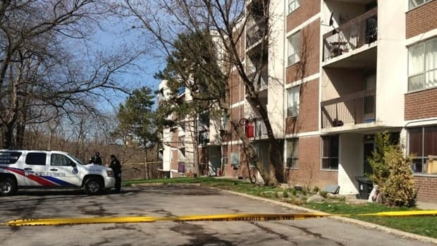 A man was found stabbed at this apartment building on Bogert Avenue on Thursday evening. He later died in hospital.
