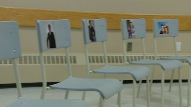 Empty chairs signify people from the Annapolis Valley who have died from prescription drug overdoses.