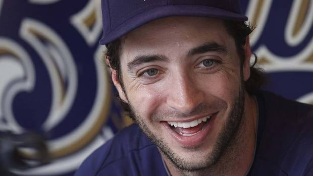 "At an awards dinner Saturday, Brewers outfielder Ryan Braun thanked the Major League Baseball Players Association for supporting him through his entire career, ""especially for supporting me through everything I've went through over the last couple of months."""