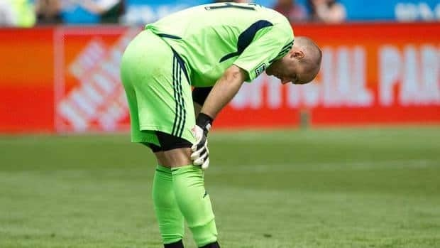 Toronto FC goalkeeper Stefan Frei suffered a leg injury Friday morning during a wet training game at BMO Field.
