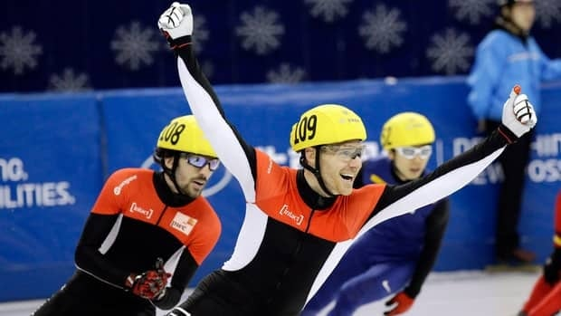 Canadian speedskater Olivier Jean sufferend a concussion Nov. 30 after falling during the preliminary round of the 1,000-metre race at a World Cup in Nagoya, Japan.