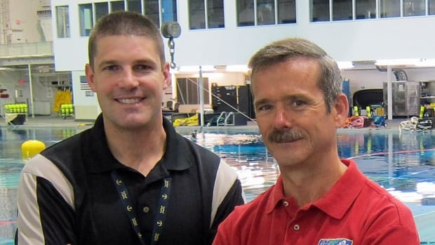 Canadian astronaut Jeremy Hansen, left, served as a crew support astronaut for Chris Hadfield's recent mission and hopes to follow him into space one day.