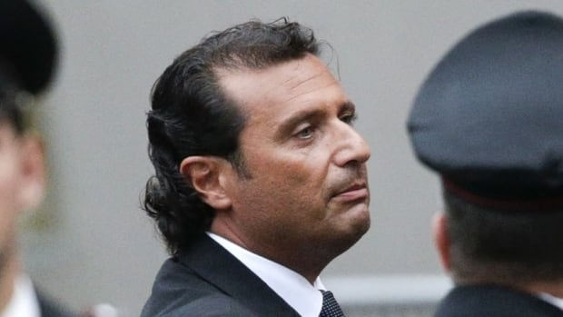 Costa Concordia Capt. Francesco Schettino, shown here in October 2012 at the end of the preliminary hearings in Grosseto, will stand trial for manslaugther on July 9.