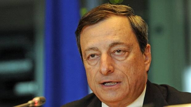 European Central Bank President Mario Draghi said the bond program would have no set limit and be a 'fully effective backstop.'
