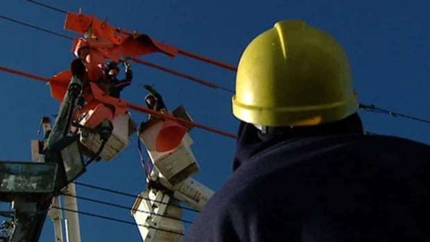 Nova Scotia Power says outsourcing transmission line inspection jobs will save the utility money.