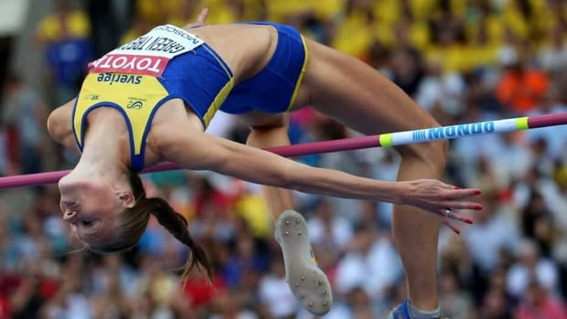 Sweden's Emma Green Tregaro competes during the women's high jump final at the 2013 IAAF World Championships in Moscow on August 17, 2013.