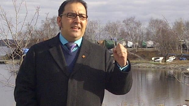 Sudbury Member of Parliament Glenn Thibeault speaks out about the possible elimination of the Navigable Waters Protection Act from Ramsey Lake on Thursday.
