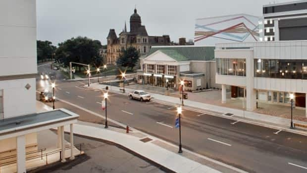 Fredericton is looking to add a new hotel near the downtown convention centre. The Crowne Plaza-Lord Beaverbrook Hotel, left, is across the street from the convention centre.