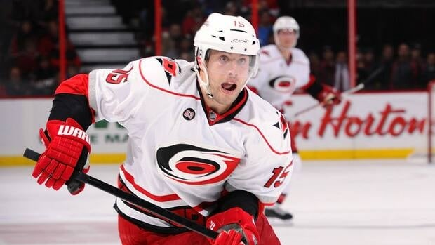 Hurricanes forward Tuomo Ruutu is second on the team with 17 goals and fourth in points (30) this season in 57 games.