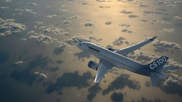 The maiden flight of the much-anticipated CS100, pictured in a promotional graphic released by Bombardier, has been delayed twice and is now set to take place by the end of July.