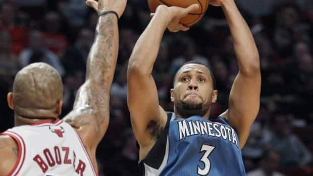 Minnesota Timberwolves guard Brandon Roy goes up for a shot against the Chicago Bulls during preseason action in October. Roy has been limited to just five games this season.
