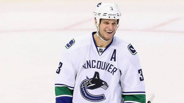 Vancouver Canucks defenceman Kevin Bieksa has five goals, one assist and is plus-six in 17 games this season.