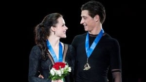 Tessa Virtue and Scott Moir won their fifth national ice dancing title on Sunday in Mississauga, Ont.
