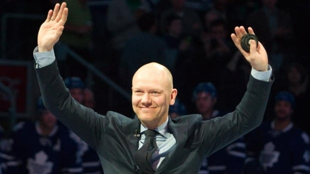 Hall of Fame player Mats Sundin is honoured by the Toronto Maple Leafs on Saturay night at Air Canada Centre.
