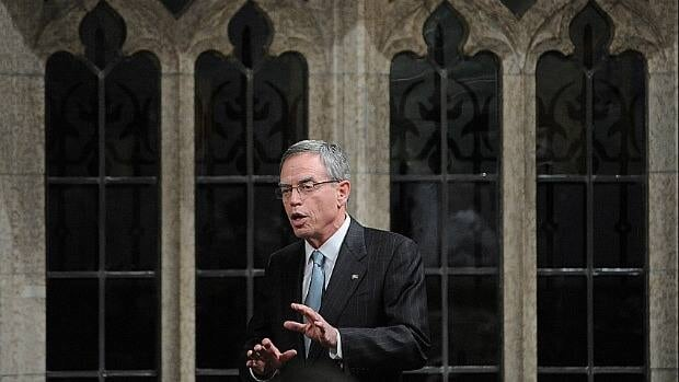 Minister of Natural Resources Joe Oliver speaks during question period on March 9. Oliver has spent the past week in Europe lobbying against proposed changes to their emissions standards.