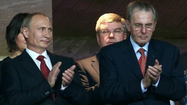 Russian President Vladimir Putin, left, and his government promise to comply with the Olympic charter of non-discrimination upheld by IOC president Jaques Rogge during the 2014 Sochi Winter Games.