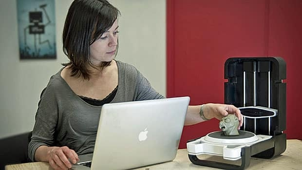 Matterform's 3D scanner, designed for hobbyists.